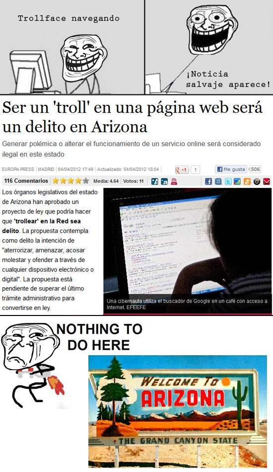 Nothing_to_do_here - Arizona no quiere a Trollface