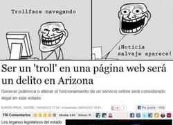 Enlace a Arizona no quiere a Trollface