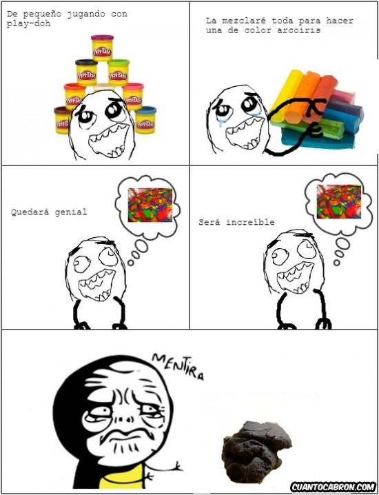 arcoirirs,mentira,mezcla,Play-doh