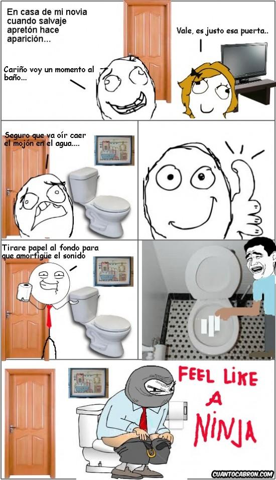 baño,cagar,feel like a ninja,mierda,novia,papel higiénico,sonido