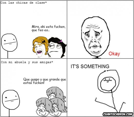 Abuela,Amigas,Chicas,It's Something,Okay,Poker Face
