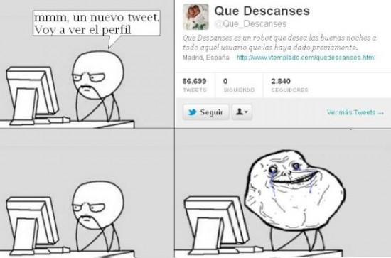 Dormir,Forever Alone,Twitter
