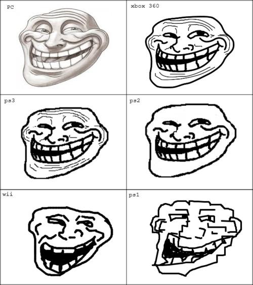 Trollface - Trollface en las distintas consolas. ¿Con cuál te quedas?