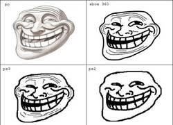 Enlace a Trollface en las distintas consolas. ¿Con cuál te quedas?