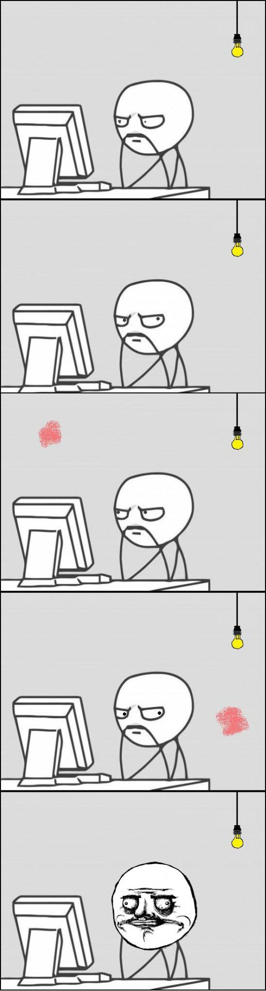 Computer_guy - Cuando se te ocurre mirar la luz fijamente, esa mancha que te sigue