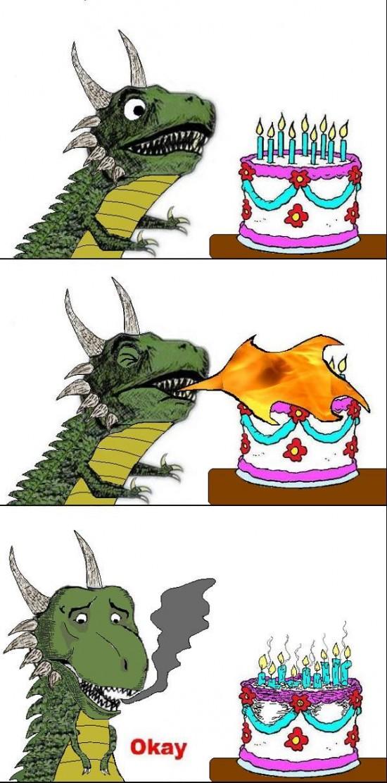 Okay - ¡Feliz cumpleaños, señor dragón!