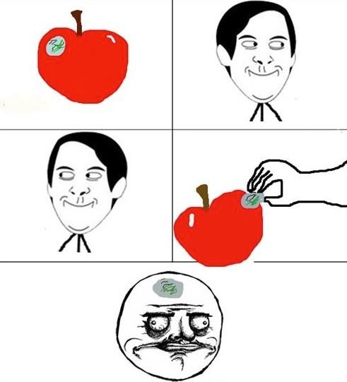 manzana,me gusta,pegatina,peter parker