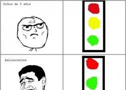 Enlace a El semáforo según la edad