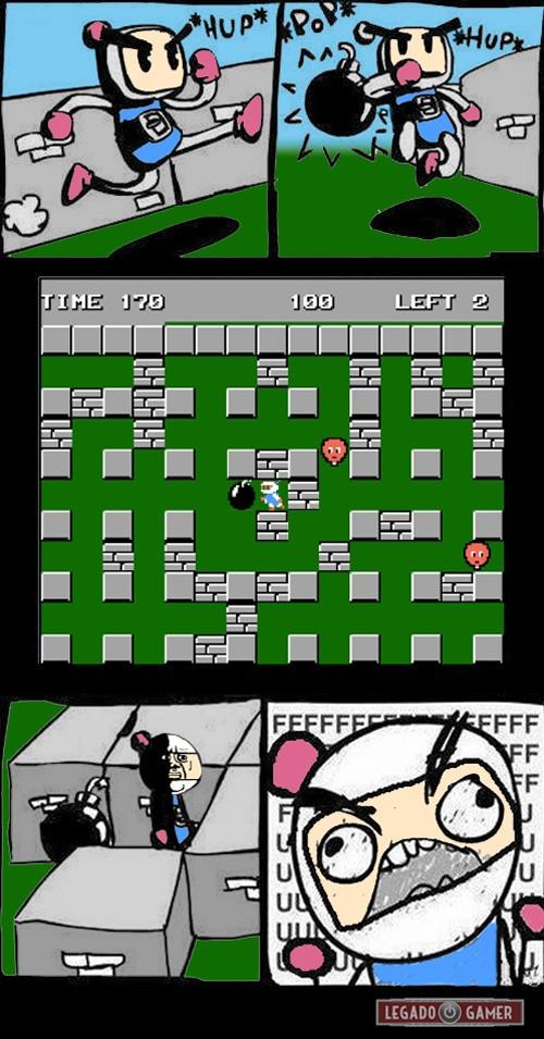Ffffuuuuuuuuuu - Bomberman Fail