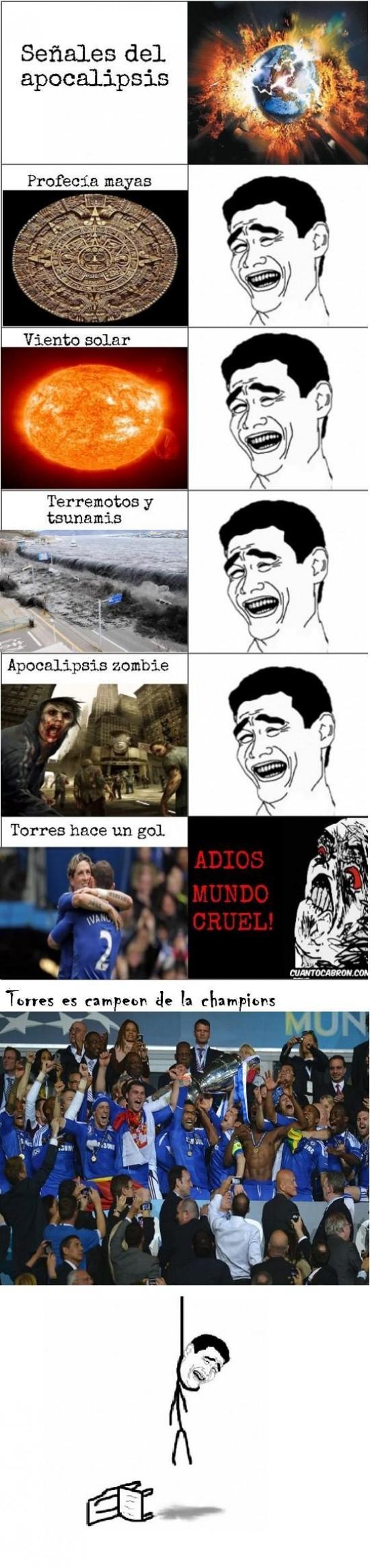 apocalipsis,Chelsea,Torres. champions