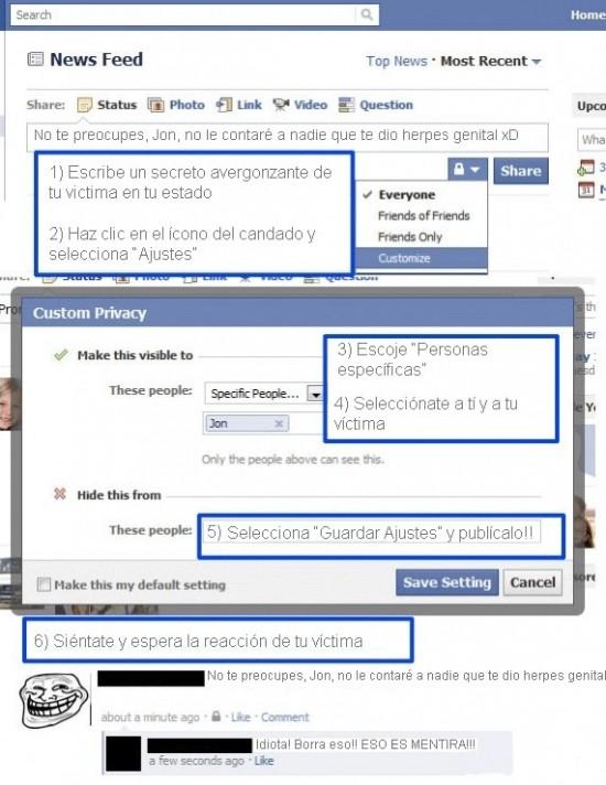 Trollface - Cómo trollear en facebook