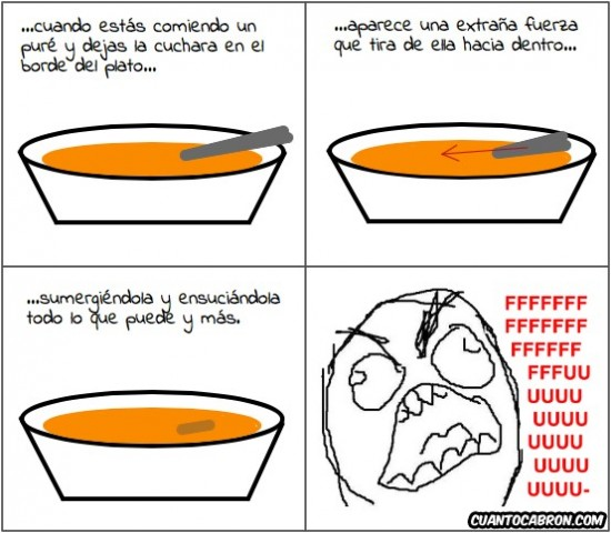 comer,cuchara,ensuciar,fuerza extraña,plato,puré,sopa,sumergiéndola,sumergir