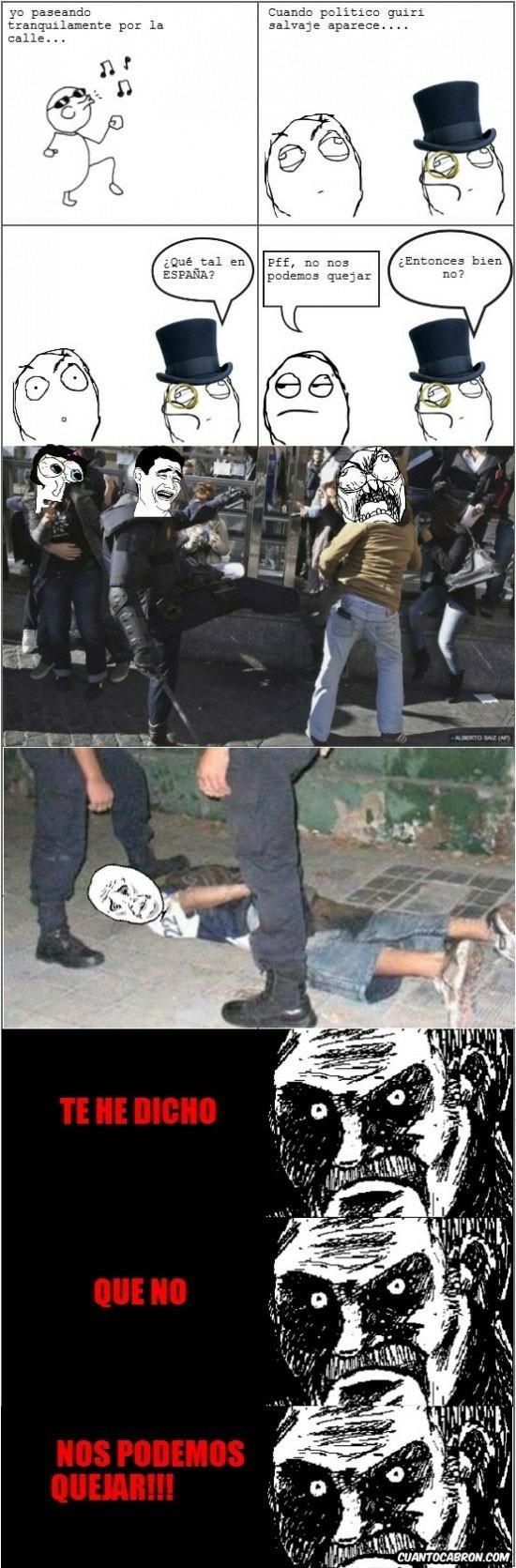 crisis,democracia,españa,policía,quejarse