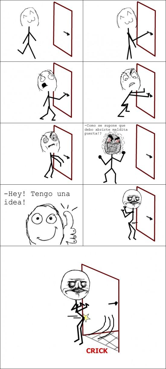 golpe,me gusta,puerta