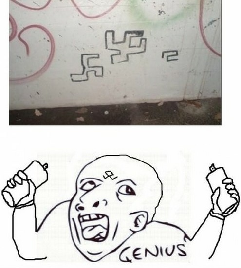 genius,graffiti,nazi