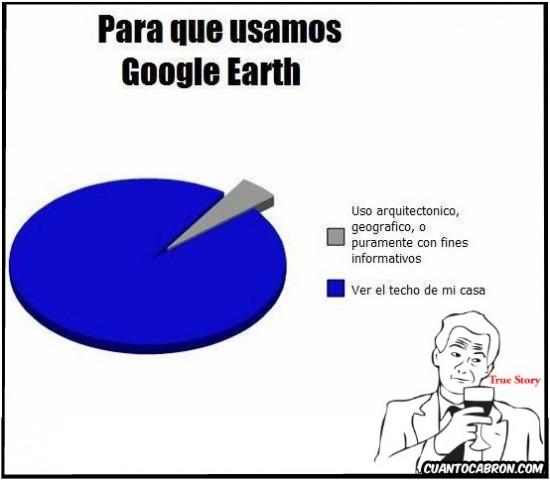 google earth,grafico,techo de casa,true story