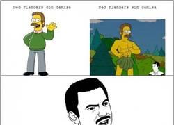 Enlace a Ned Flanders sin camisa