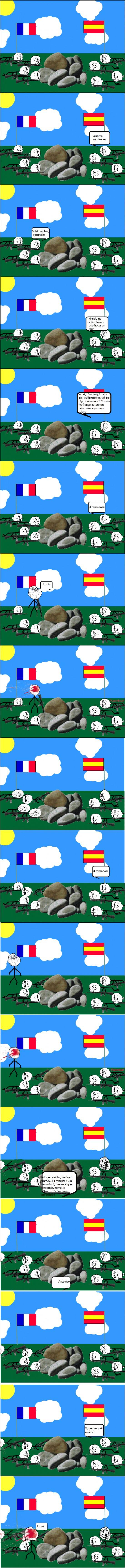 españoles,franceses,francia,guerra,troll