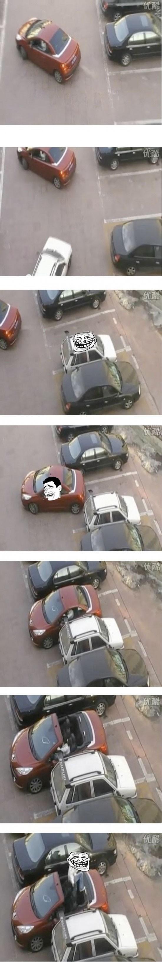 aparcamiento,coche,karma,troll