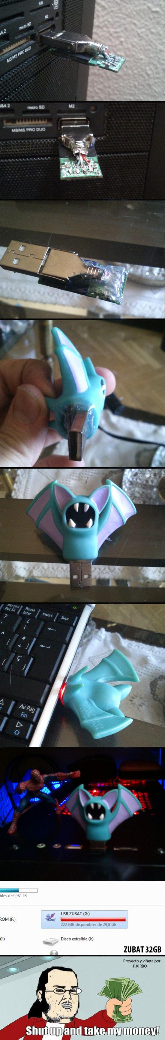 friki,pendrive usb,pokemon,zubat