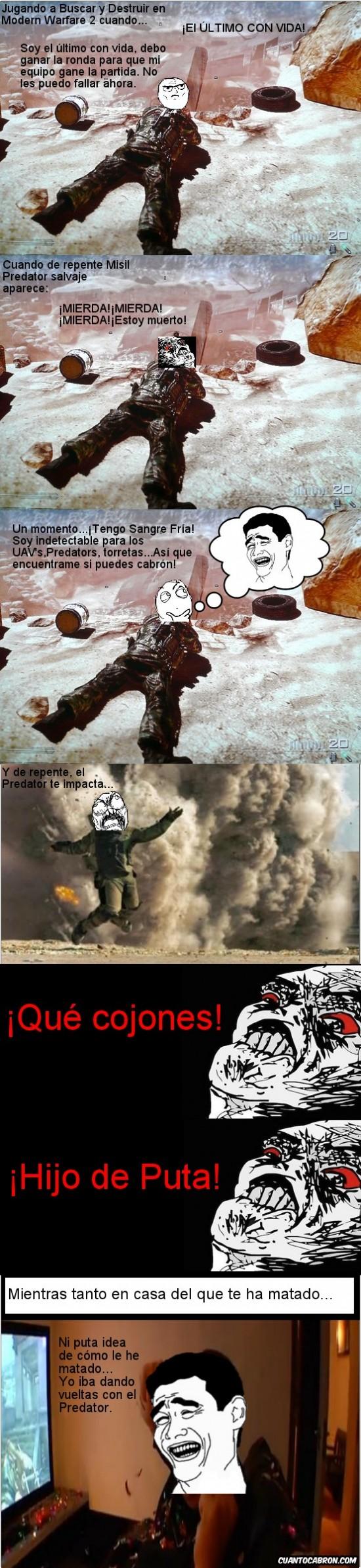 Afganistán,Call Of Duty,Camper,En Tierra Hostil,guiris,Misil Predator,Modern Warfare 2,Sangre Fría,suele pasar,yaoming