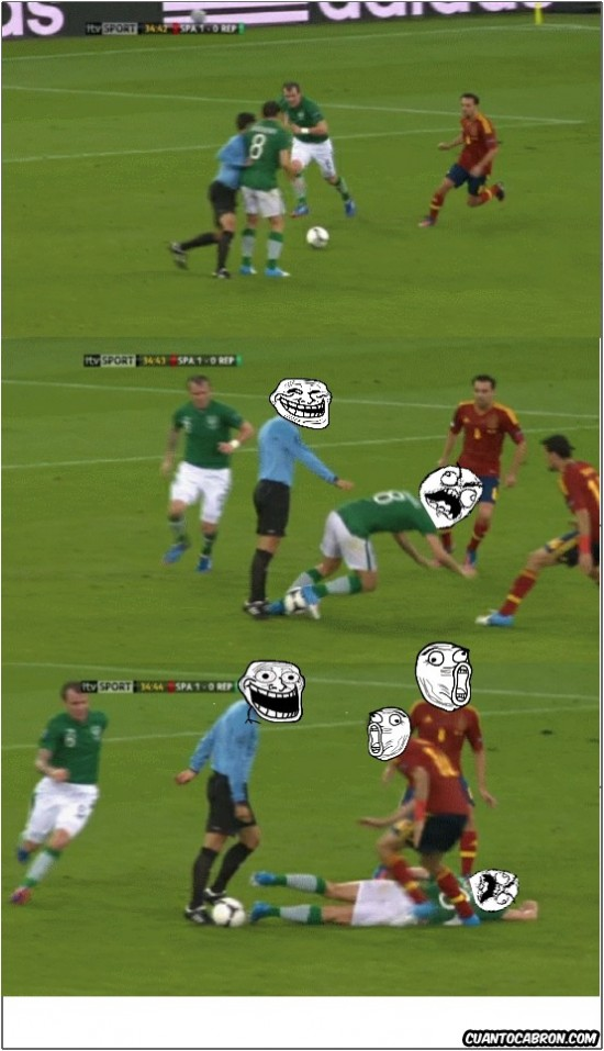 árbitro,españa,fútbol,fuuuu,irlanda,trollface