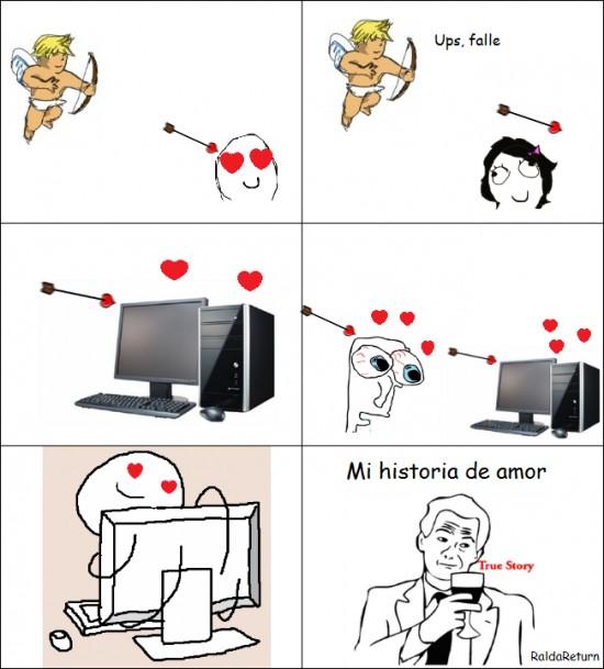 Amor,Cupido,Flechazos,ordenador,PC
