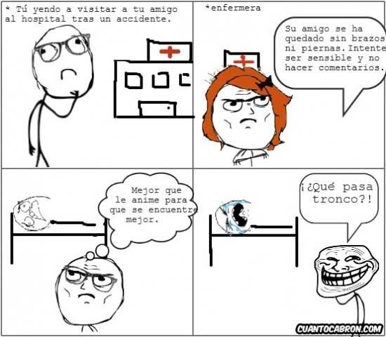 amigo,enfermera,hospital,troll,tronco