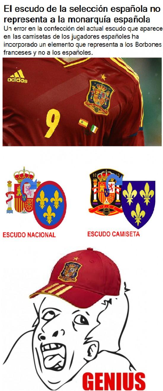 Otros - Error en la camiseta de la selección española
