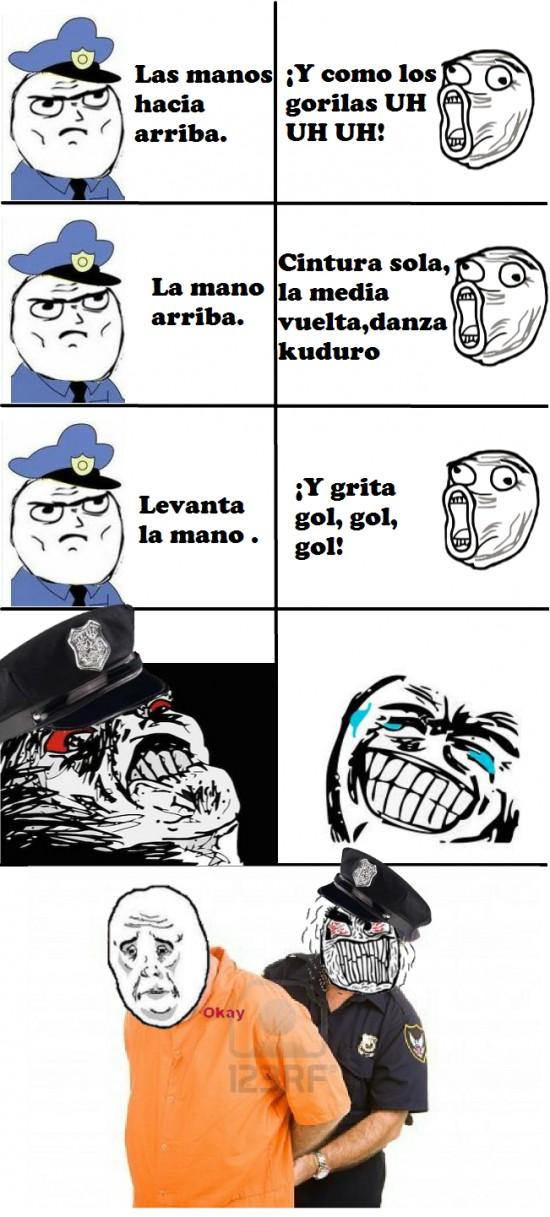 bisbal,canción,fuuu,gorila,kuduro,lol,policia