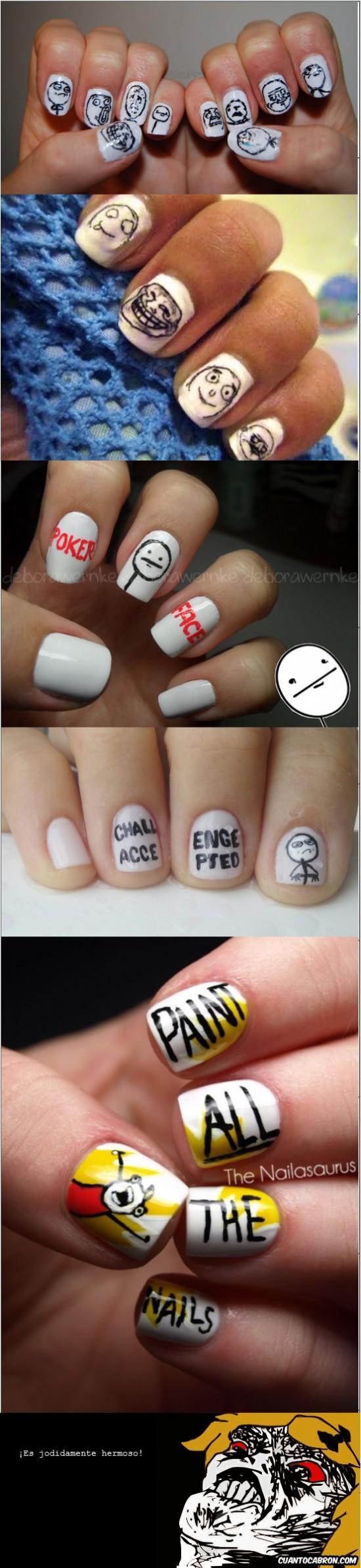 arte,memes,mix,uñas