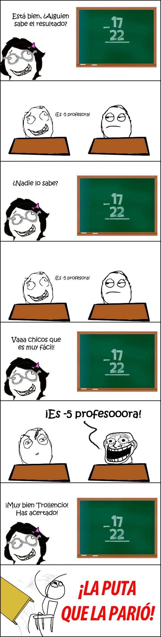 clase,Deskflip,profesora,troll
