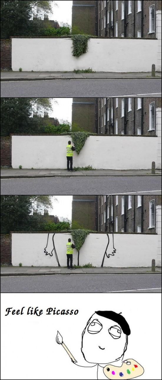 Dibujo,Muro,Picasso