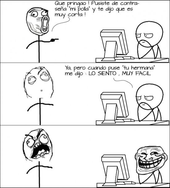computer guy,contraseña,corto,facil,rage,trollface