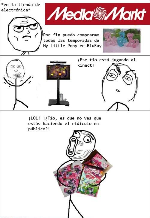 BlueRay,DVD,Kinect,My Little Pony,ridículo,tontos