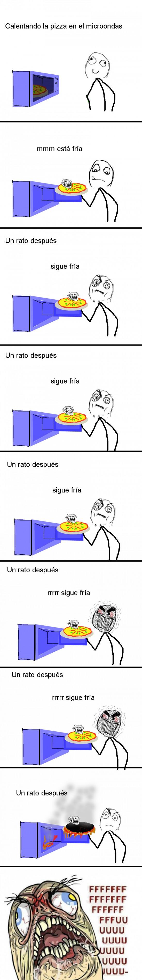 Ffffuuuuuuuuuu - La pizza en el microondas
