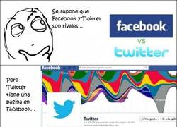 Enlace a Facebook vs. Twitter