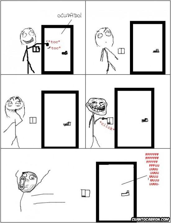 Trollface - Trolleando a tu hermano en el baño