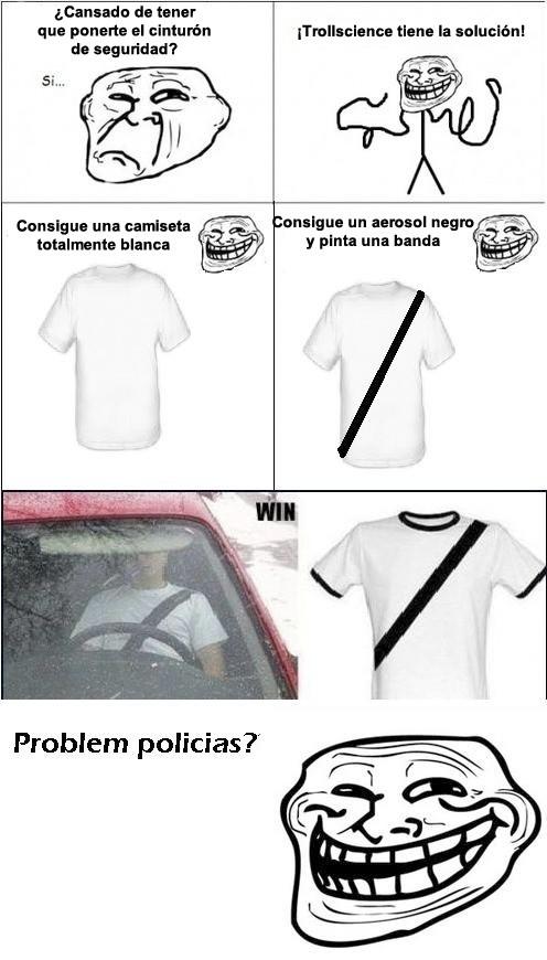 camiseta,cinturón de seguridad,conducir,fake,no lo hagáis,problem,trollface