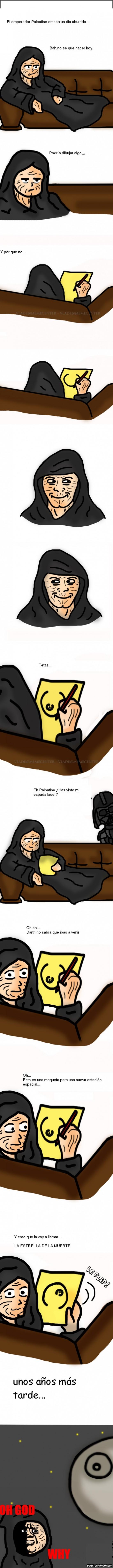 Darth Vader,estrella de la muerte,oh god why,Palpatine