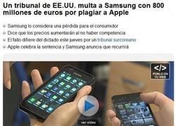 Enlace a Samsung trolleando a Apple