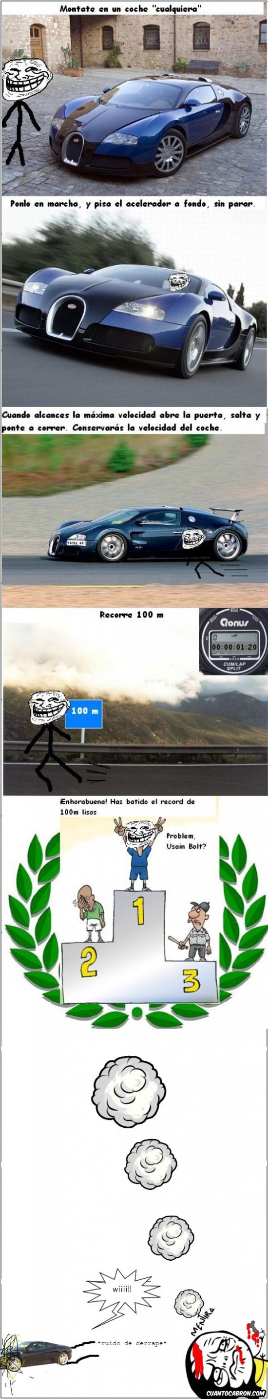 Mentira - Cómo batir el récord de los 100m lisos