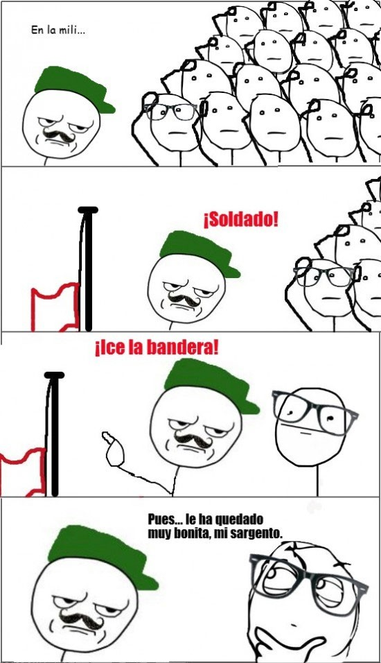 bandera,izar la bandera,mili,militar,soldado