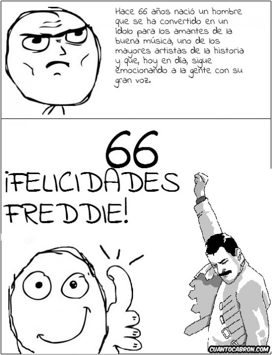Freddie_mercury - 66 años del más grande