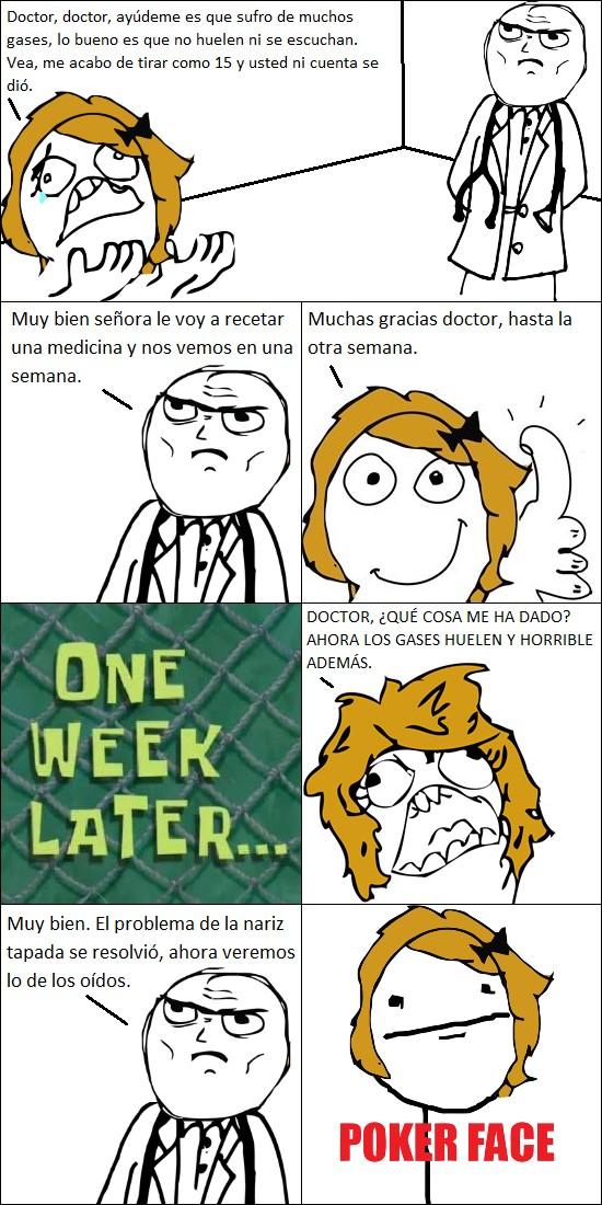 doctor,enferma,gases,médico,nariz,pedo