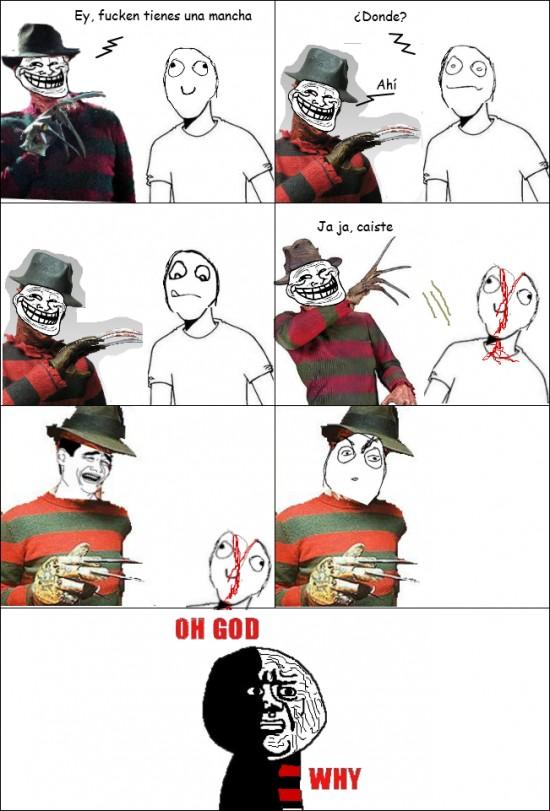Broma,Freddy krueger,Muerte