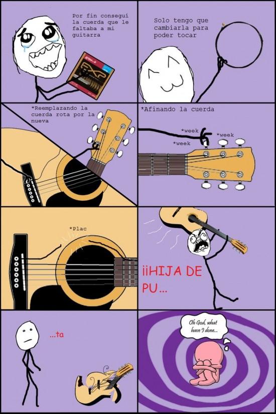 cuerda,guitarra,jodida,san lorenzo,¡que vuelva el Oh god what have I done?!,¡si me la publican follo!