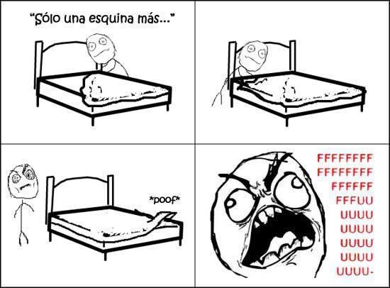 cama,colchon,fuuu,rage guy,sábana