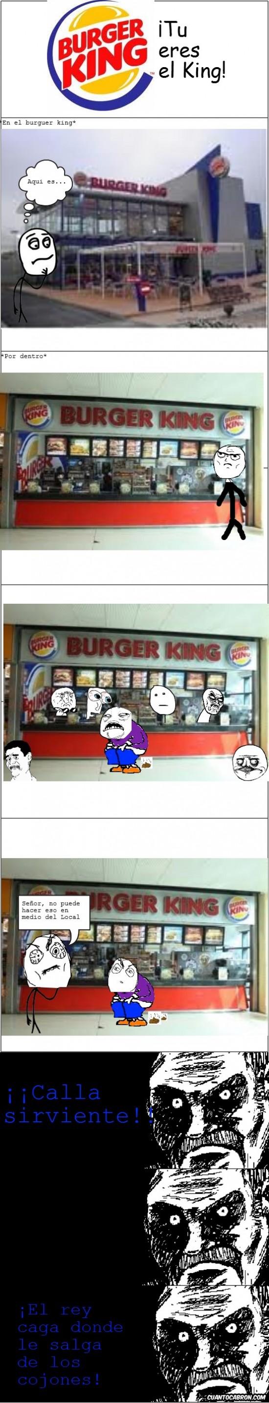 Burguer king,cagar,comer,mierda,rey,sirviente