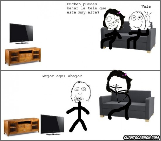 alta,bajar,idiota,TV